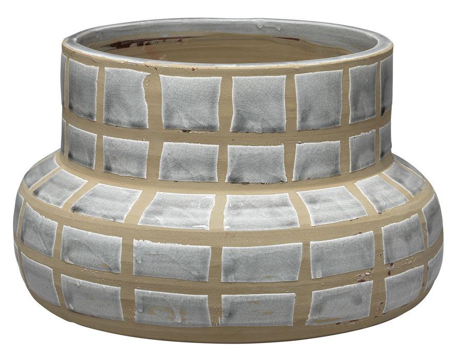 Ceramic Grid Vase
