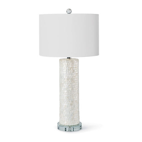 Scalloped Capiz Table Lamp