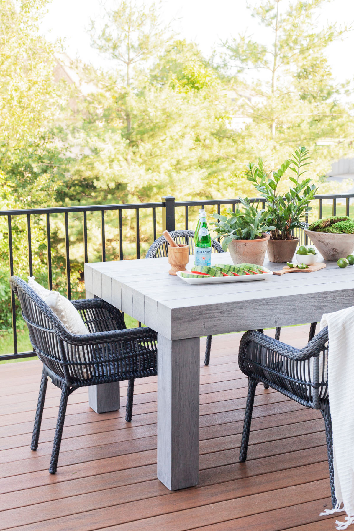 Shop the Look  |  Sonora Outdoor Dining Table ,  Canaveral Cape Dining Arm Chair .