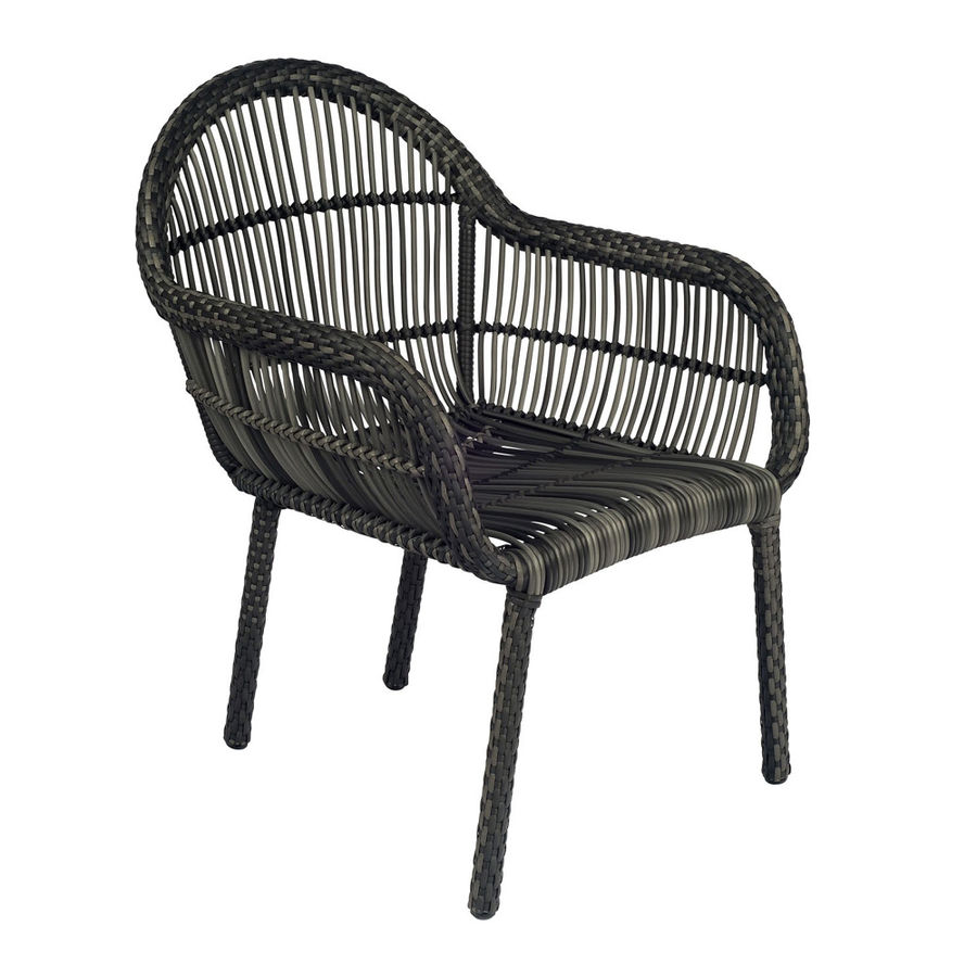 The  Cape Dining Arm Chair  takes the classic boxy wicker style and gives it a contemporary twist. Experience the comfort and convenience of outdoor furniture without the maintenance with this all-weather wicker patio dining chair.