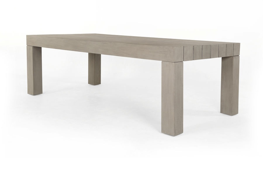 Trend-forward appeal, indoors or out with this  Sonora Dining Table . Clean lines, X frames and palatable neutral tones boost the versatility of living and dining styles, with natural materials standing front and center.