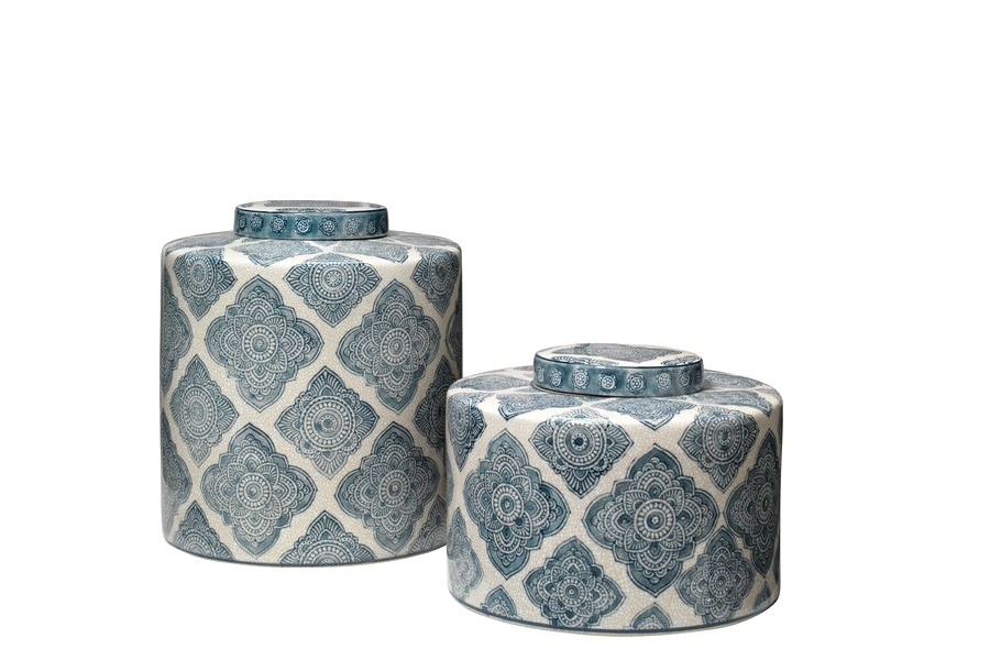 Ceramic containers  add pops of color to a space while still remaining light and feminine.