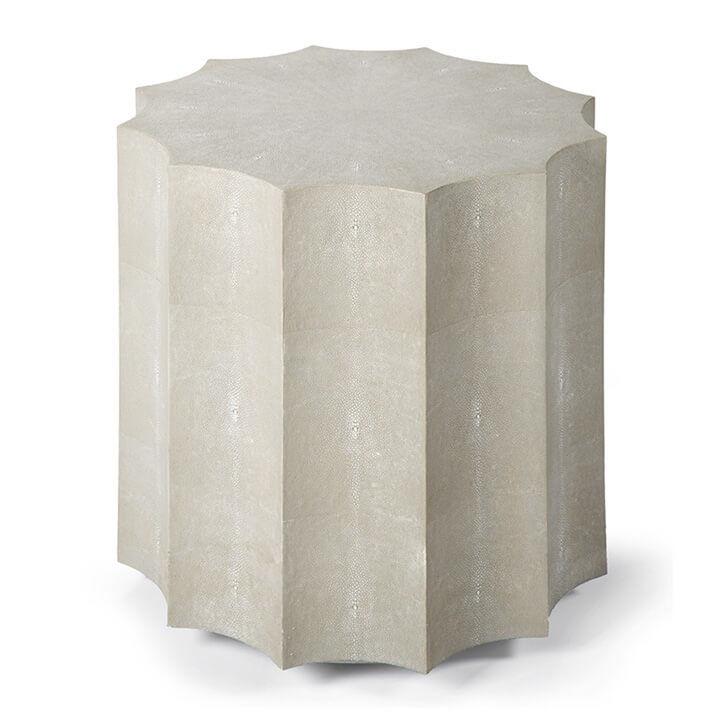 Marilyn Shagreen Scalloped Table