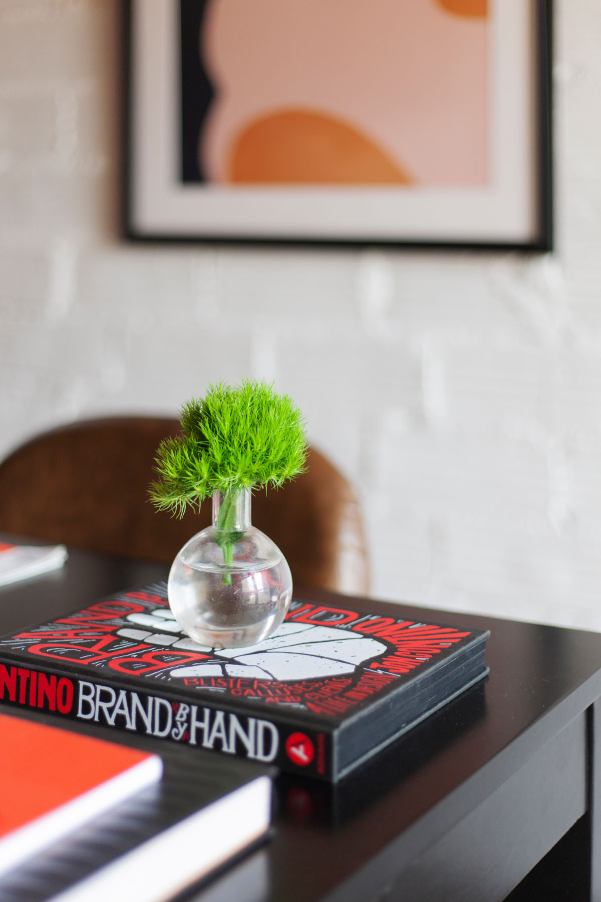 The  Clear Sphere Vase  is perfect for tiny greenery and florals