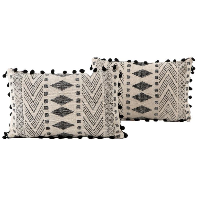 Faded Block Print Pillows