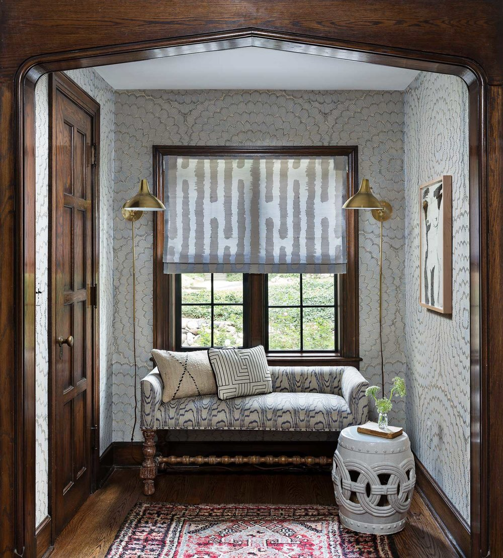 Design by  Cloth and Kind, Ann Arbor Hills Tudor Project  | Photography by  Martin Vecchio