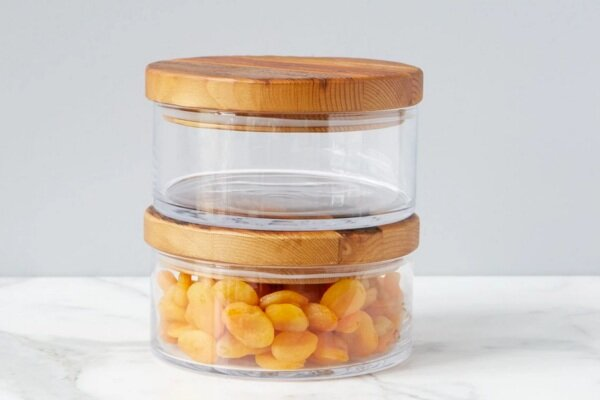 Natural Wood Top Canister