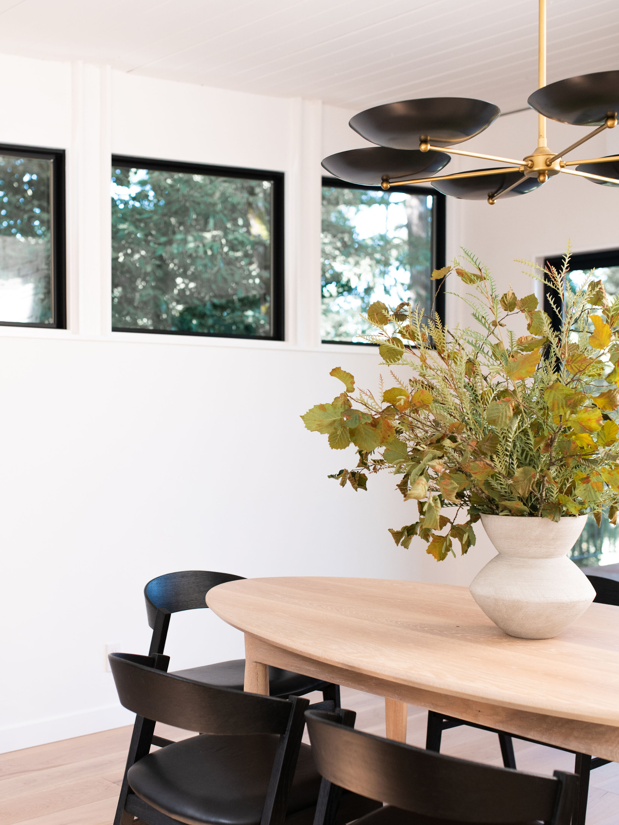 Adding some greenery is a great way to enhance a table and include some more earthy tones into any space.