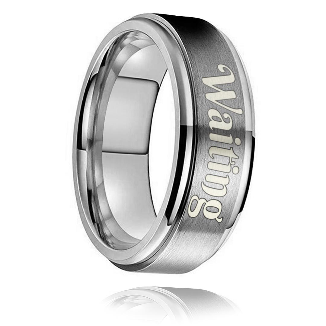 Waiting Ring - Silver Titanium