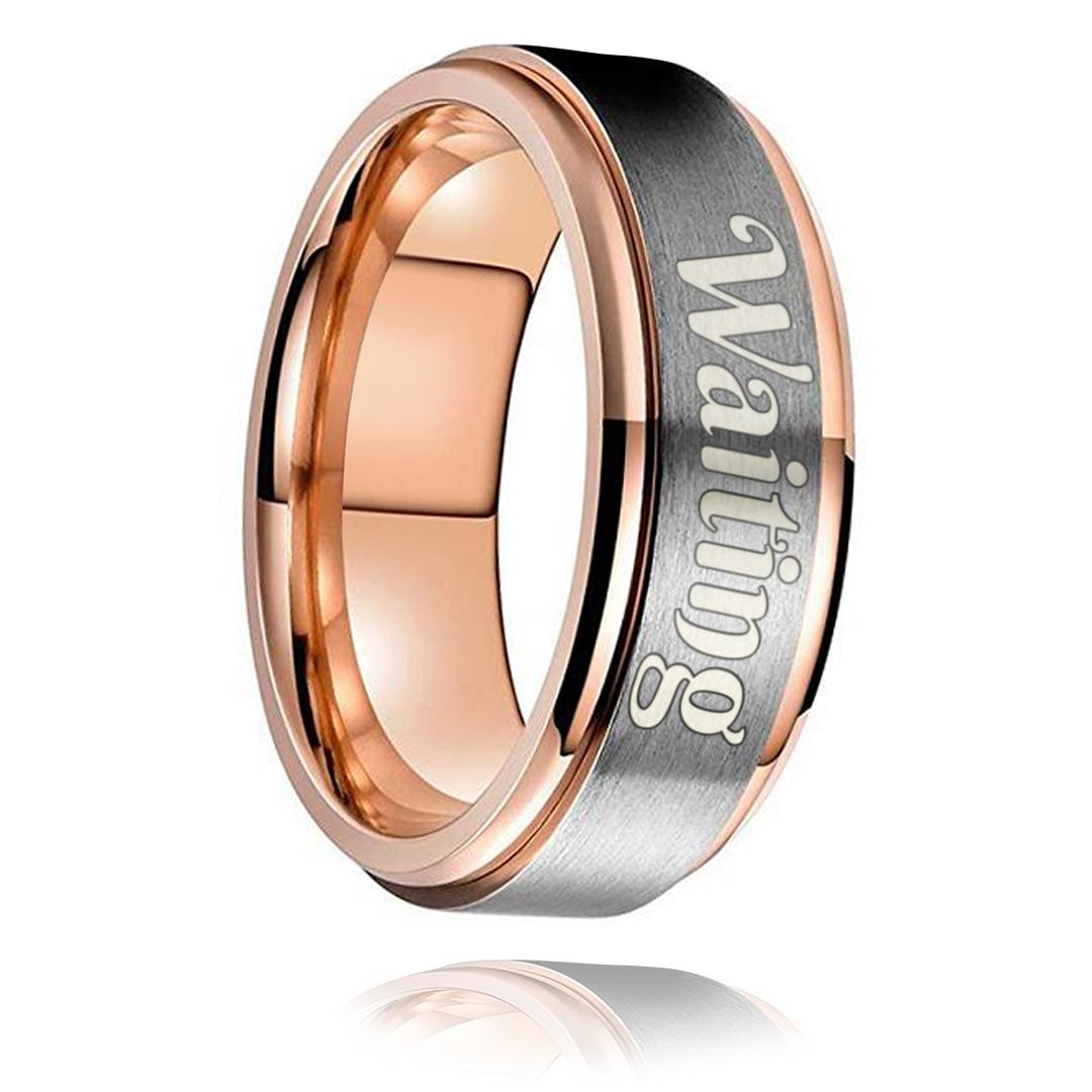 Waiting Ring - Rose Gold Titanium