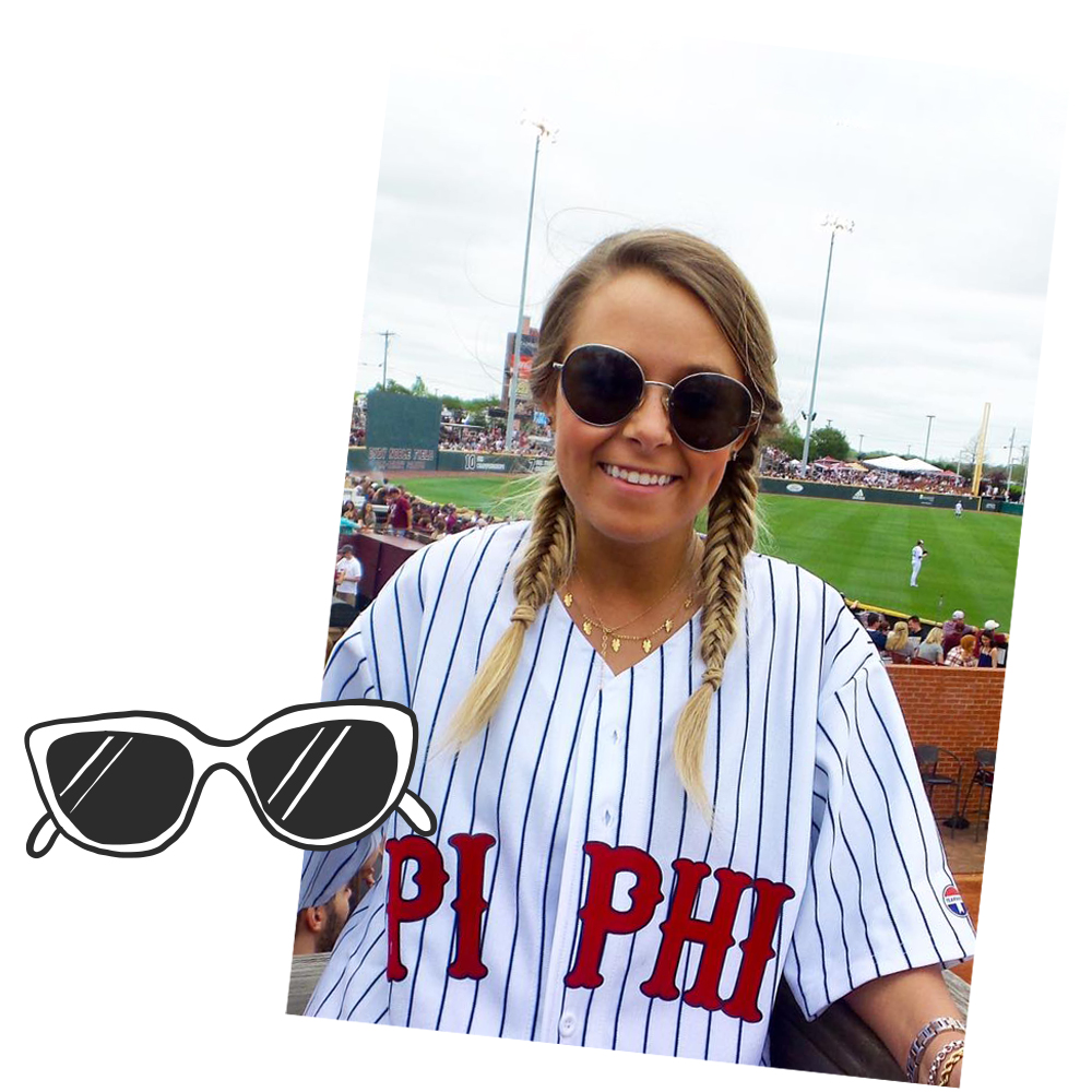 ACCESSORIZE!! - You're rocking the baseball jersey and braids, but the accessories brings it all together. In case you do find yourself at a game!