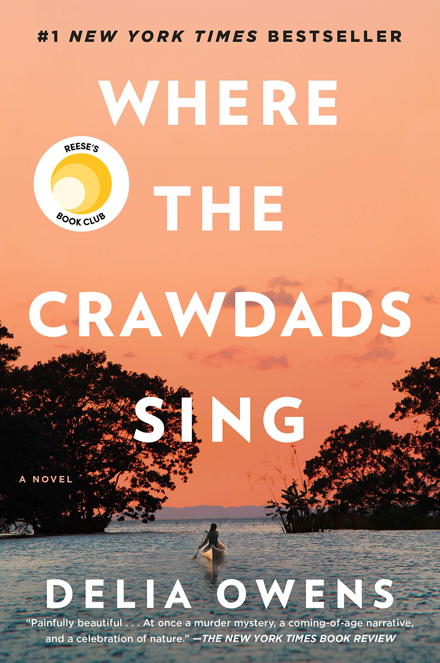 Where the Crawdads Sing by Delia Owens - This book y'all....this book will do it to you. It instantly became one of of my favorite books of all time and one I know I will reread again and again. It's about a young girl who raises herself, alone, in the marsh of North Carolina. We follow her from girl to woman and see how loneliness and her ability to survive shapes her - all while trying to figure out what happened to the popular boy in town who was found dead. It is incredible and I couldn't put it down. And you know our girl Reese is pulling through and turning it into a movie, so hop on the train now and become a fan before all your friends do.