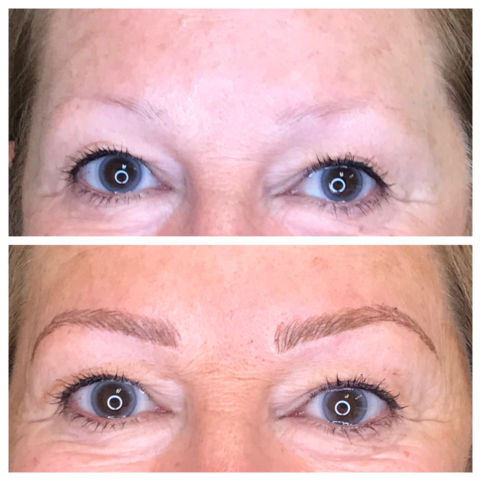 Before and after Microblading by Jazmin
