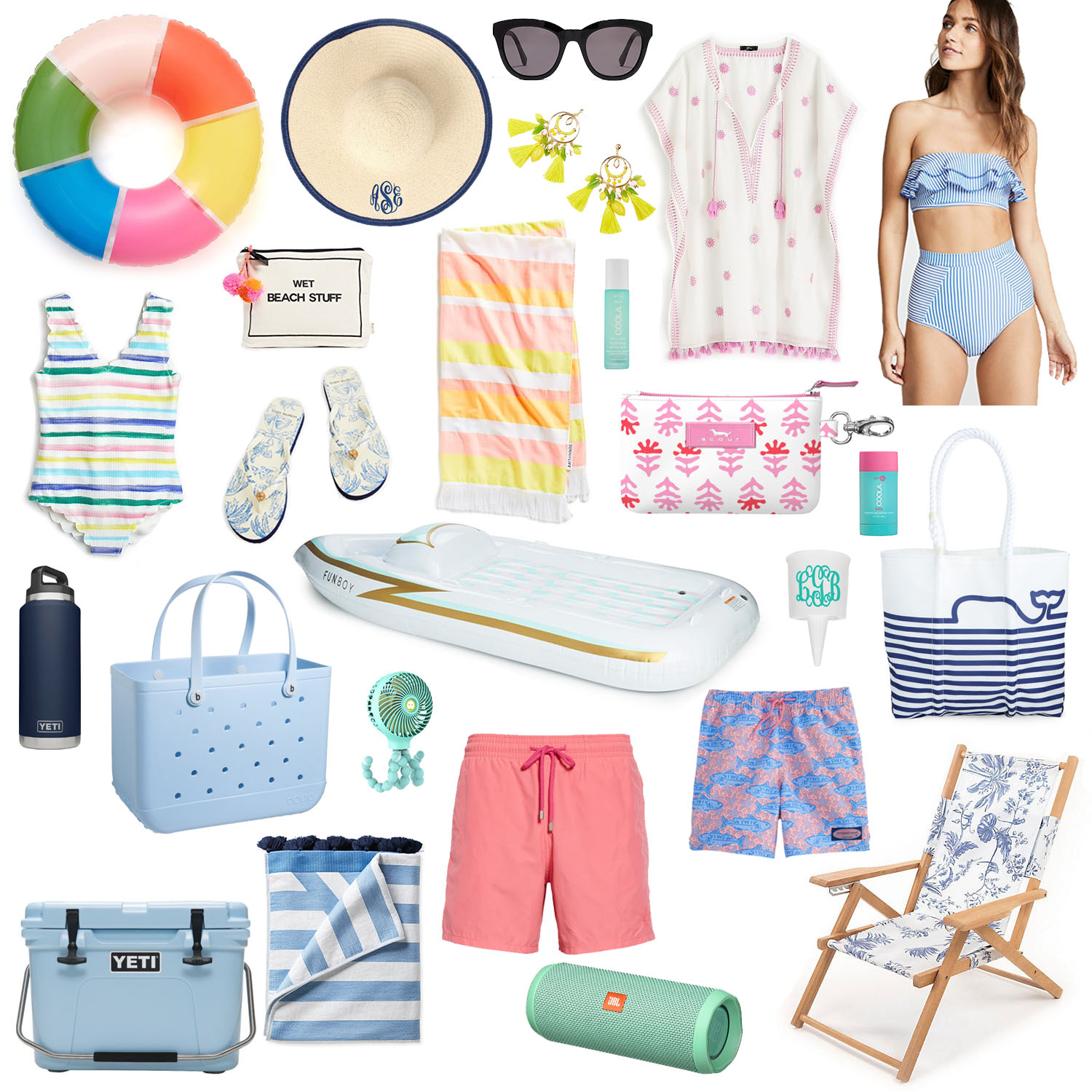 FAMILY BEACH DAY - I rounded up all my favorite beach day essentials for the whole family. After moving to the beach I've realized just how much STUFF you need to bring with you — Y'all I feel like I'm moving in every time we head for sand.
