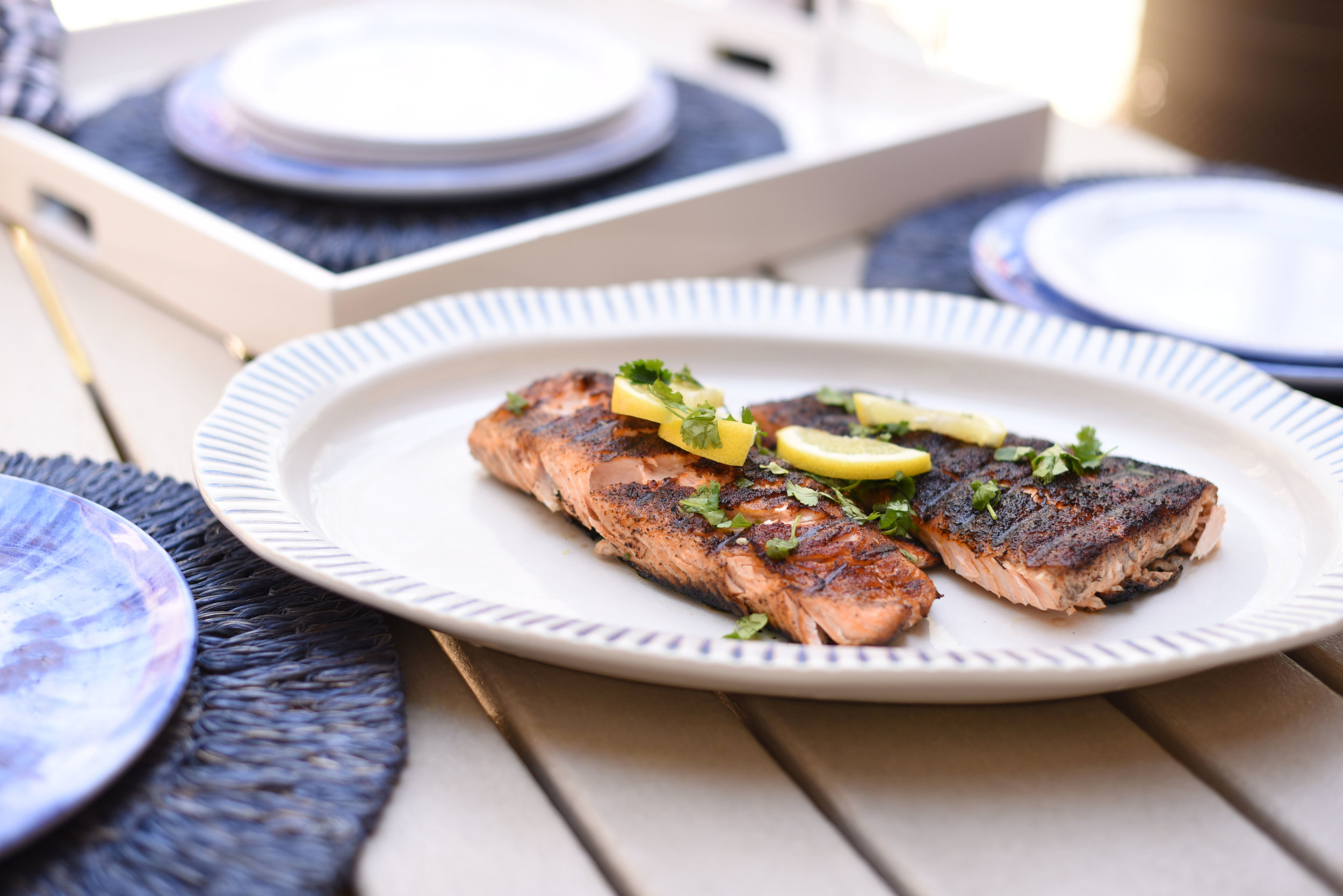 Grilled Salmon - the best grilled fish recipe for hot summer nights