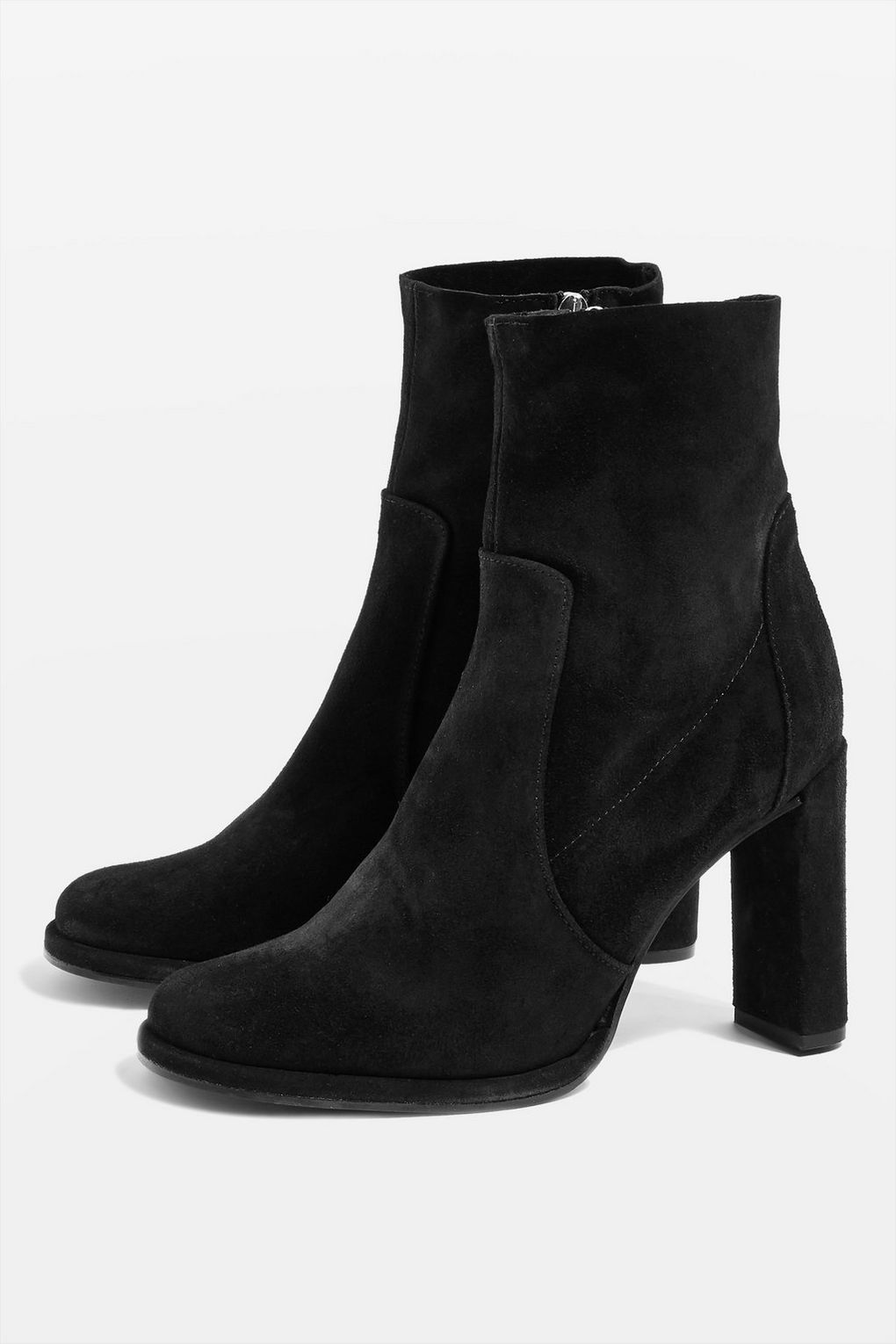 Black Suede Ankle Boots Topshop
