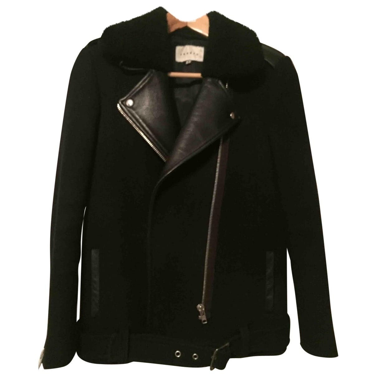 Wool Biker Jacket Sandro