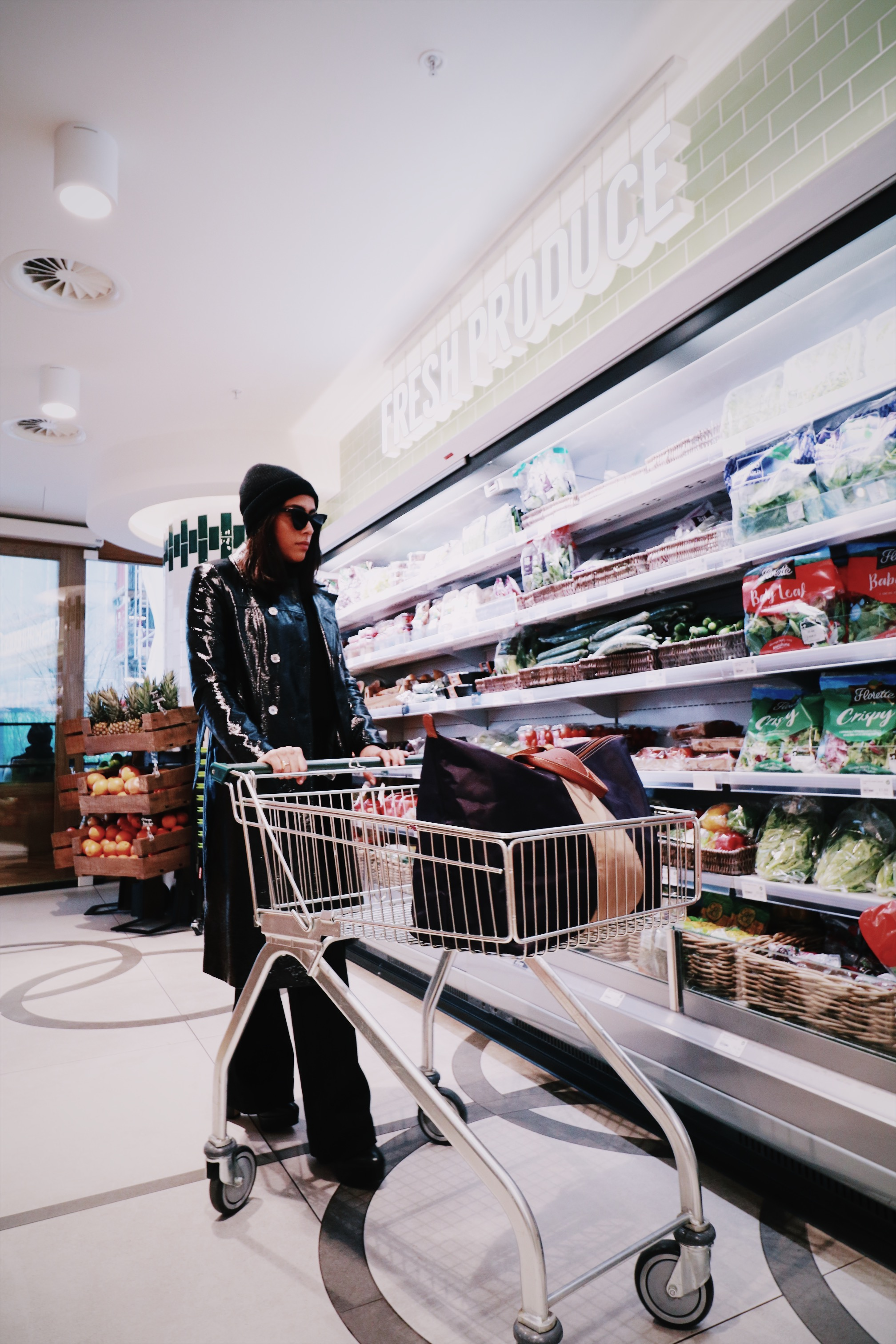 Fashion Blogger Grocery Shopping