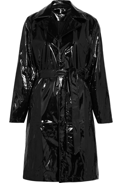 RAINS Patent Trench Coat