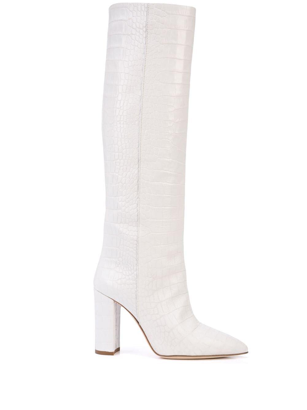 Paris Texas White Knee High Boot