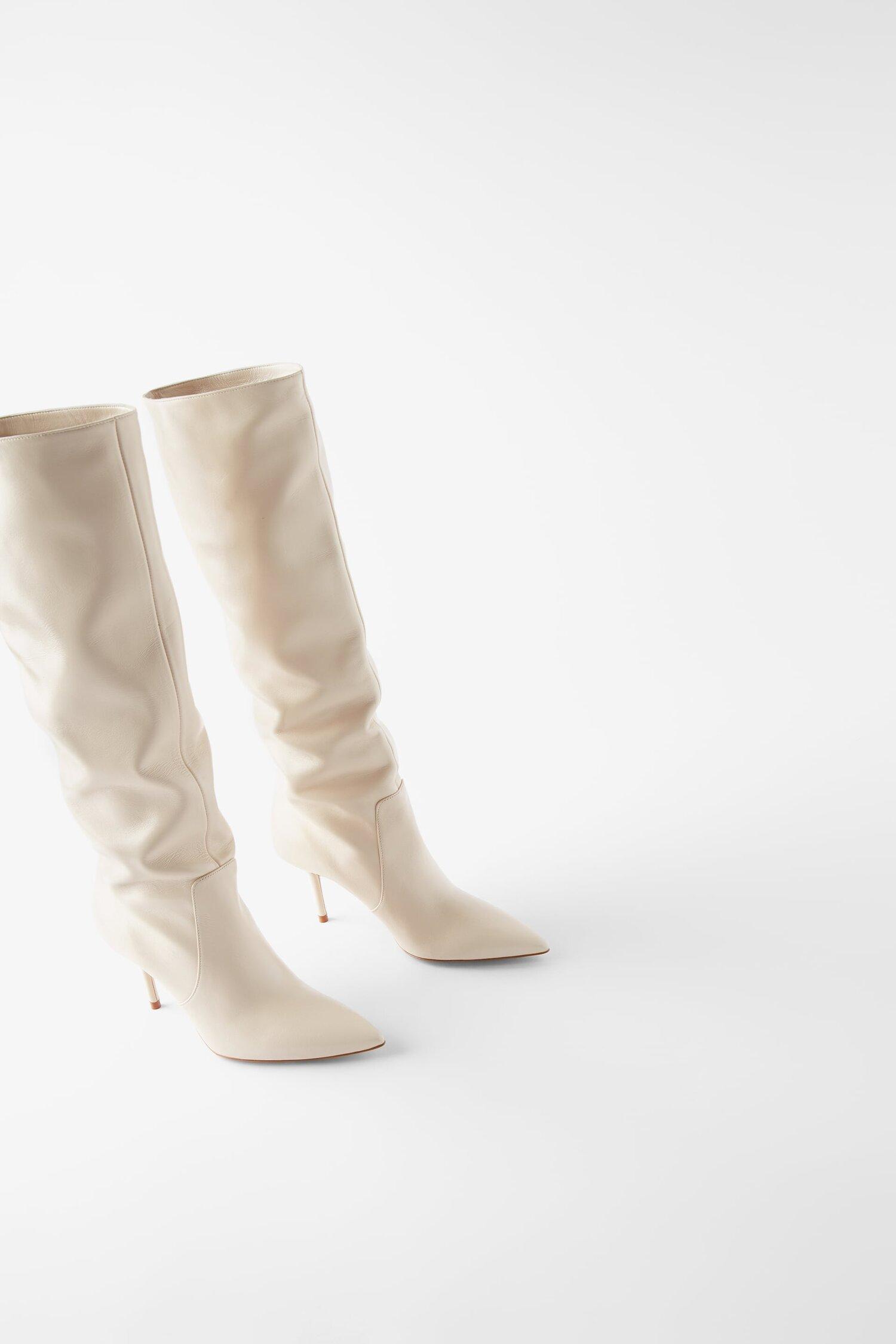Zara Mid Heel Boots