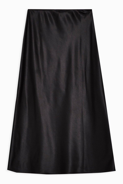 Topshop Midi Satin Bias Skirt