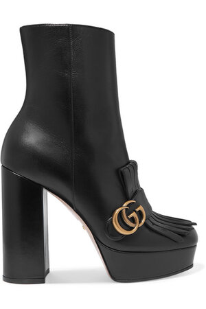 Gucci Marmont Fringed Boots