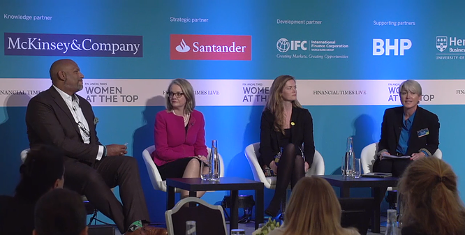 John Amaechi speaks at the Financial Times 'Women at the Top' summit.