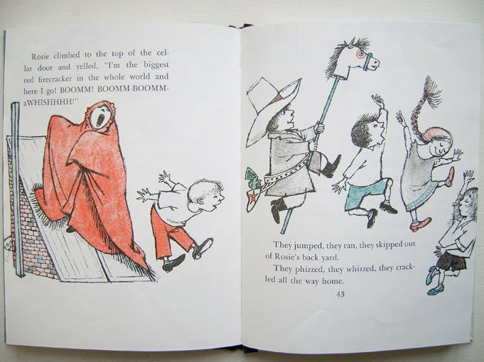 The playground is something like this:  The Sign on Rosie's Door  by Maurice Sendak