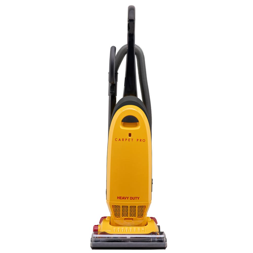 """Carpet Pro CPU-250 Heavy Duty   - Fast-Task Tools - 5 Position Height Adjustment - 30' Heavy Duty 2-Wire Cord - Full Bag Indicator - 12 Amp Motor - 1 Year Warranty / 90 Days Commercial - 66"""" Waterlift, 75 cfm = ~580 Air Watts At Hose   $169.95"""