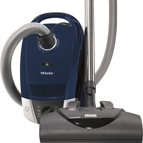 Miele Compact C2 Electro+ - $699.95   • 1,200–watt Miele-Made Vortex Motor™  • 6-setting suction control via Rotary Dial  • Exclusive Miele AirClean Sealed System™  • Type FJM AirClean FilterBag™, 3.7 quart  • HEPA AirClean Filter (HA 50)  • Electro Plus Floorhead (SEB 228)  • Pure Suction Parquet Floorhead (SBB Parquet-3)  • Dusting Brush, Upholstery Tool and Crevice Nozzle on VarioClip™  • One-Touch Automatic Cord Rewind • 33 ft cleaning radius     Flooring:  Suitable for bare floor to medium cut pile carpeting.