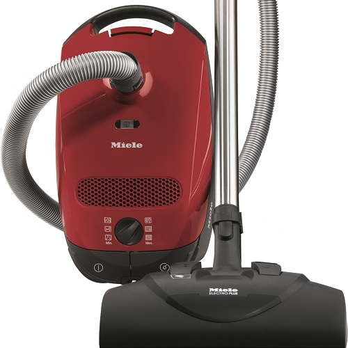 Miele Classic C1 HomeCare - In Store Only   • 1,200–watt Miele-Made Vortex Motor™  • 6-setting suction control via Rotary Dial  • Exclusive Miele AirClean Sealed System™  • Type GN AirClean FilterBag™, 4.76 quart  • AirClean Filter (SAC 20/30, Installed, HEPA optional)  • Electro Plus Floorhead (SEB 228)  • AllTeQ Combination Floorhead (SBD 285-3)  • Dusting Brush, Upholstery Tool and Crevice Nozzle on VarioClip™  • Flexible Crevice Tool (SFD 20) & Universal Brush (SUB 20) Included  • 29.5 ft cleaning radius  •  5 Yr Warranty, 10 Yrs Motor & Casing   Flooring:  Suitable for bare floor to medium cut pile carpeting.