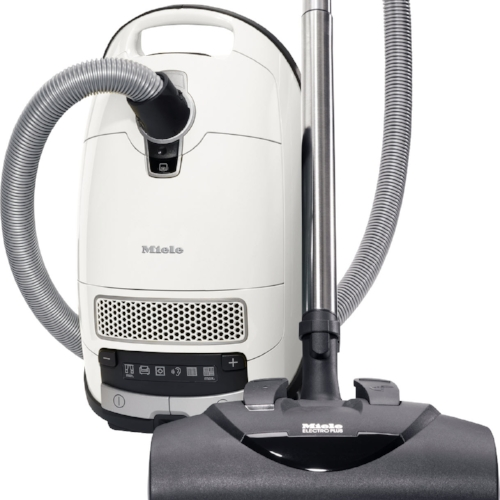 Miele Complete C3 Cat & Dog - $999.95   • 1,200–watt Miele-Made Vortex Motor™  • 6-setting suction control via +/- controls • Exclusive Miele AirClean Sealed System™  • Type GN AirClean FilterBag™, 4.76 quart  • Active Charcoal AirClean Filter • Electro Plus Floorhead (SEB 228)  • Parquet Twister Floorhead (SBB-300-3) & Mini Turbo (STB101) • Dusting Brush, Upholstery Tool and Crevice Nozzle on VarioClip™  • 36 ft cleaning radius  • 1 Yr Warranty, 7 Yrs Motor & Casing   Flooring:  Suitable for bare floor to medium cut pile carpeting.