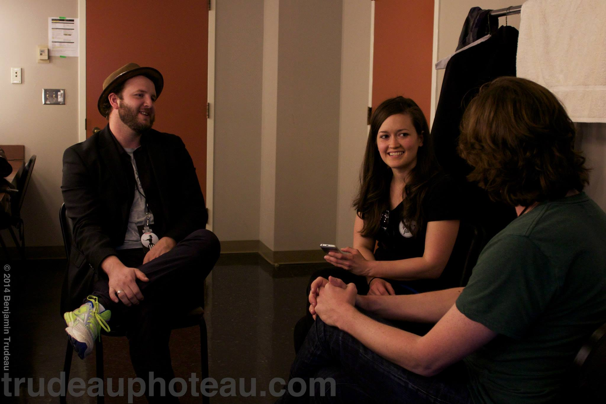 Kristina with Tim and Eric of The Alternate Routes. Photo by Benjamin Trudeau.