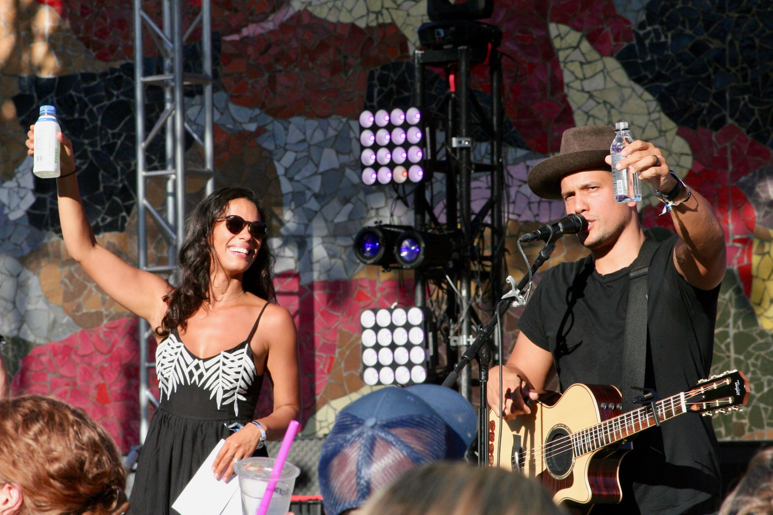 """""""Cheers!"""" Johnnyswim performed songs from their album Georgica Pond. Just beautiful. The music, the artists - unbelievable."""