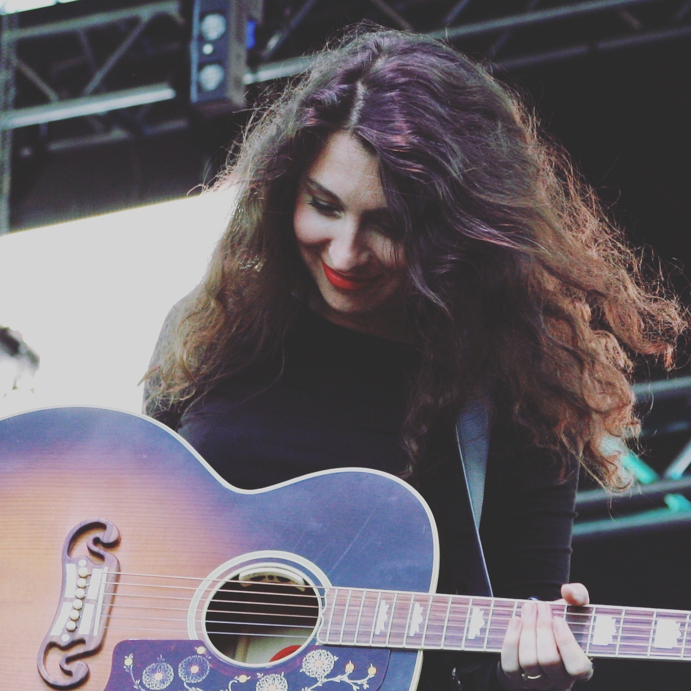 Natalie from the band Joseph. The three sisters shared their gift of harmony on the Fisher Green Stage Saturday.
