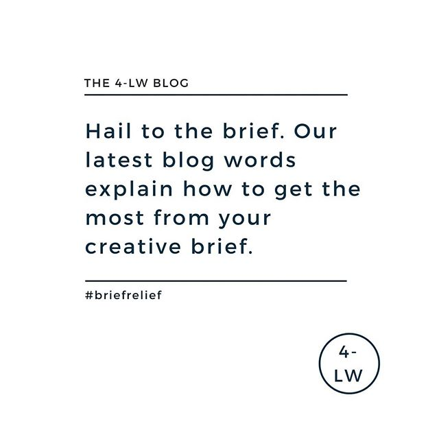 Want to get the most out of your brief encounters? Then read our latest blog words. Link in the bio. - - - #fourletterword #copywriting #copywriter #amwriting #writersofig #writing #marketing #blog #blogging #blogger #branding #creativebrief #yorkshire #leedsbusiness