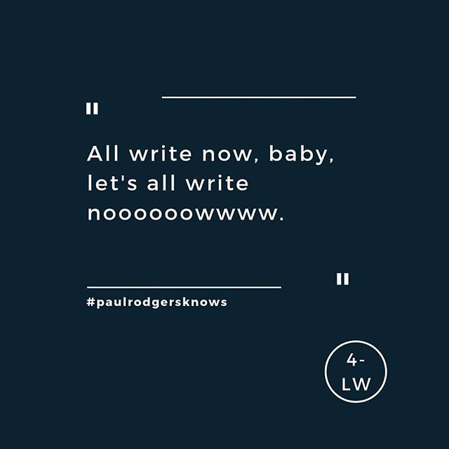 Pretty sure they're the lyrics, right? - - - #fourletterword #copywriting #copywriter #amwriting #writing #writersofig #marketing #copy #branding #brands #paulrodgers #free #leedsbusiness #yorkshire