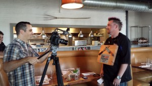 Behind The Scenes at the food festival social video shoot.