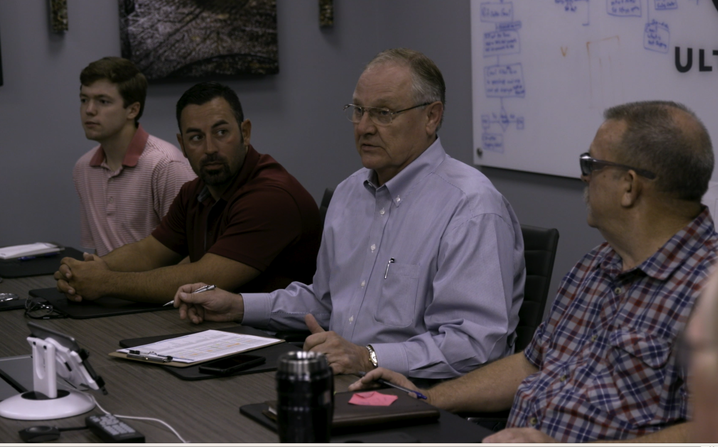 Truly authentic: we captured shots in this actual weekly Friday morning meeting with the CEO.