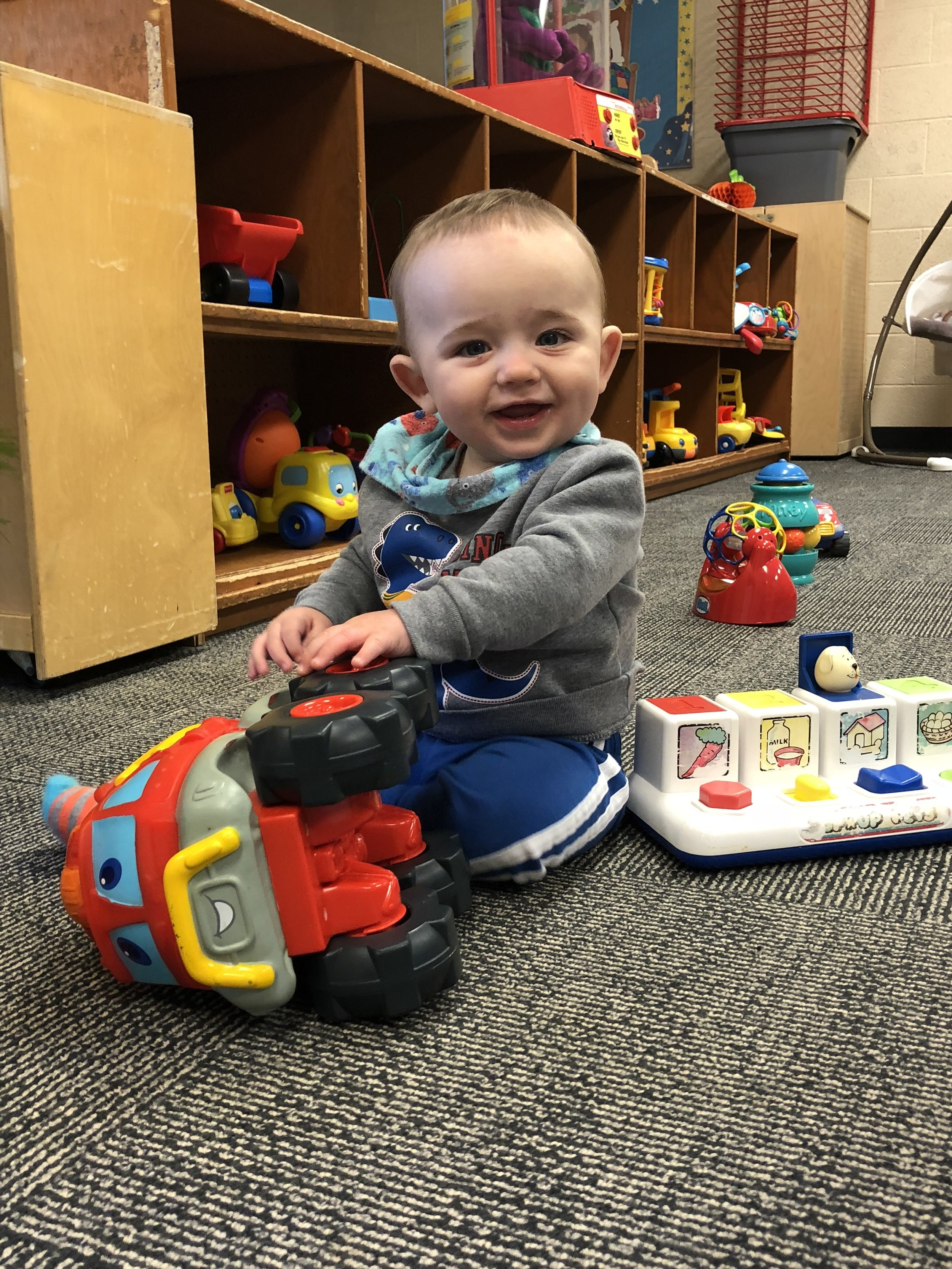 Infants and Toddlers - We here at Shores Child Care Center Know how hard it is to leave your precious baby and return to work. We make the transition easier for you and your baby.