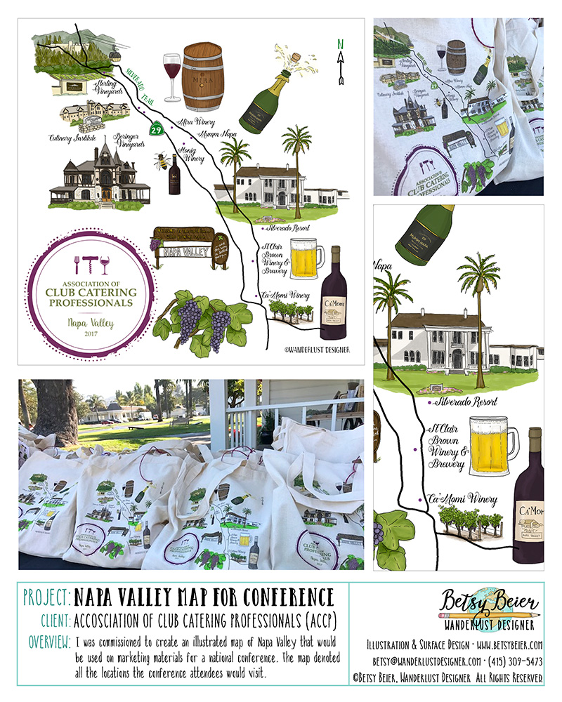ACCP Napa Valley Illustrated Map by Betsy Beier