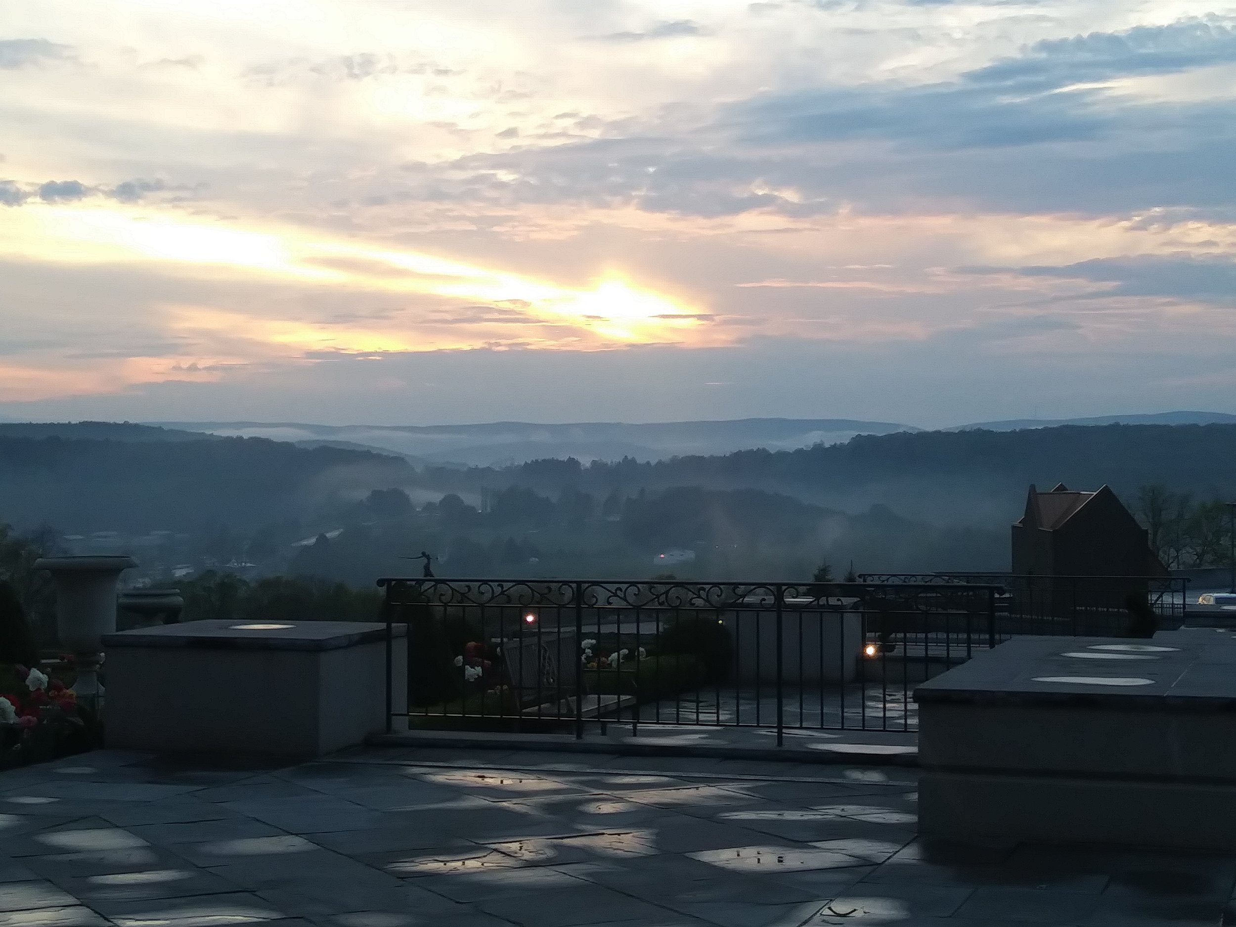 View from the Chateau at Nemacolin Woodlands Resort, Farmington, PA, Photo by Rae Pleasant