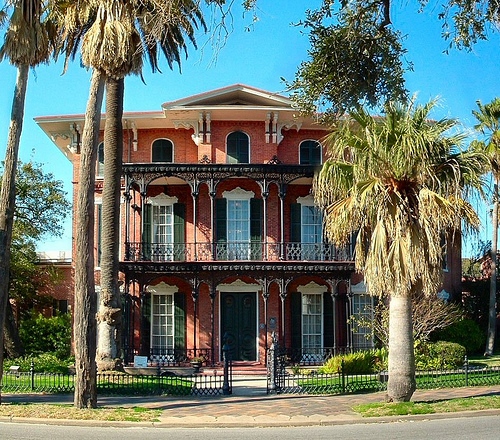 Ashton Villa, Galveston, TX. General Order No. 3 was read from the balcony on June 19, 1865 reinforcing the emancipation proclamation from 1863.