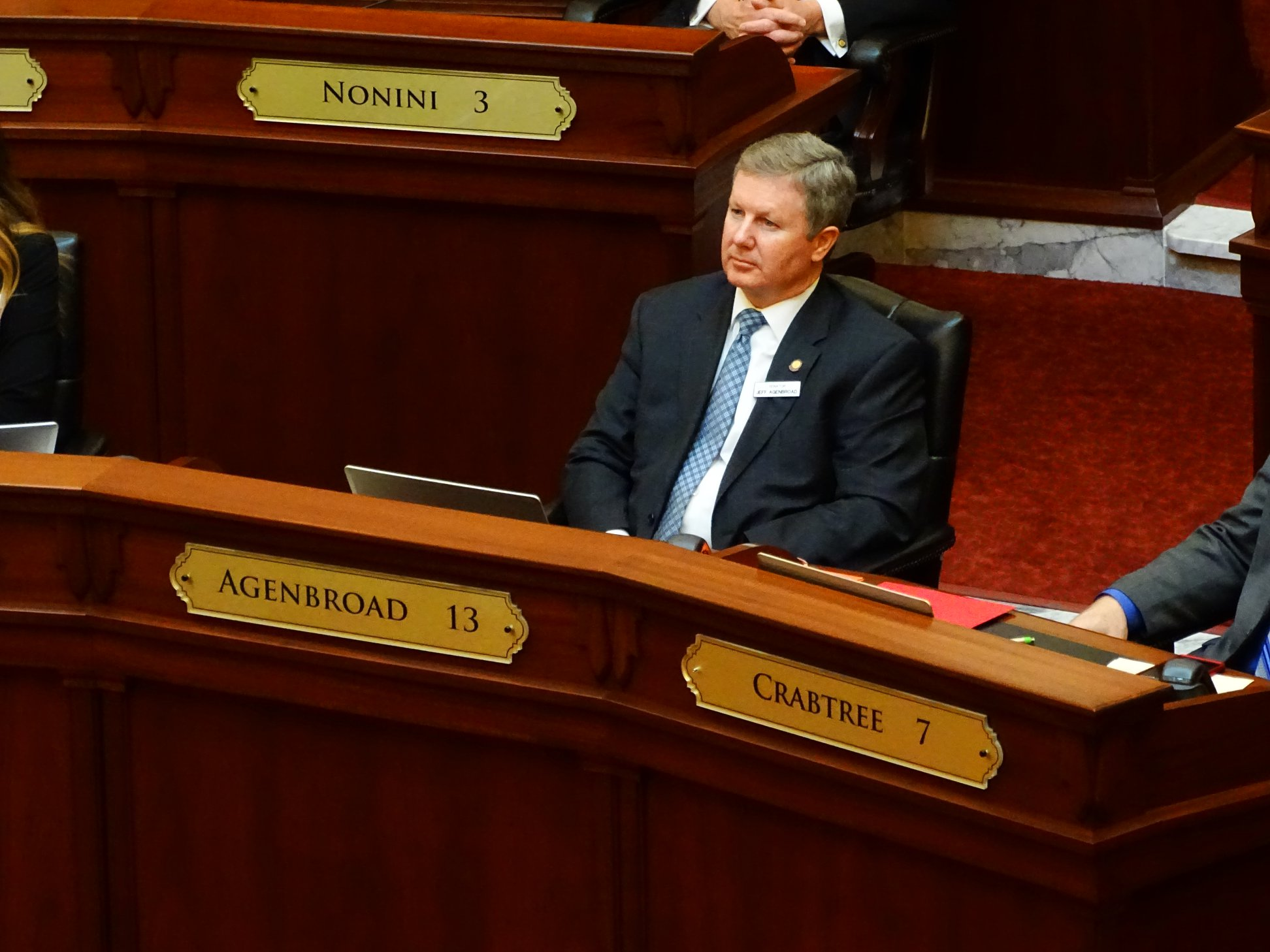 Senator Jeff Agenbroad in the Idaho Senate