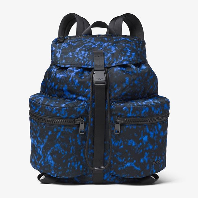 New Arrival!! Men's Michael Kors Kent Backpack $200 - Brand New in excellent condition - Only 2 available - 100% Nylon - 100% Leather Trim - Sapphire Volcanic Print - Current retail $248 - Sold out online & discontinued  message or call to purchase over the phone 2102671674 #sanantoniofashion #sanantonioresale #consignmentboutique #designer