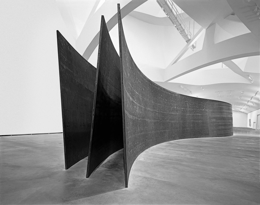 RICHARD SERRA - I chose Richard Serra's sculptures to be the main exhibition of the gallery as I thought his sculptures shared similar architectural qualities to that of the Mimesis not only in their form, but also in the starkness of their materiality and how they drive and interact with users rather than being static objects.