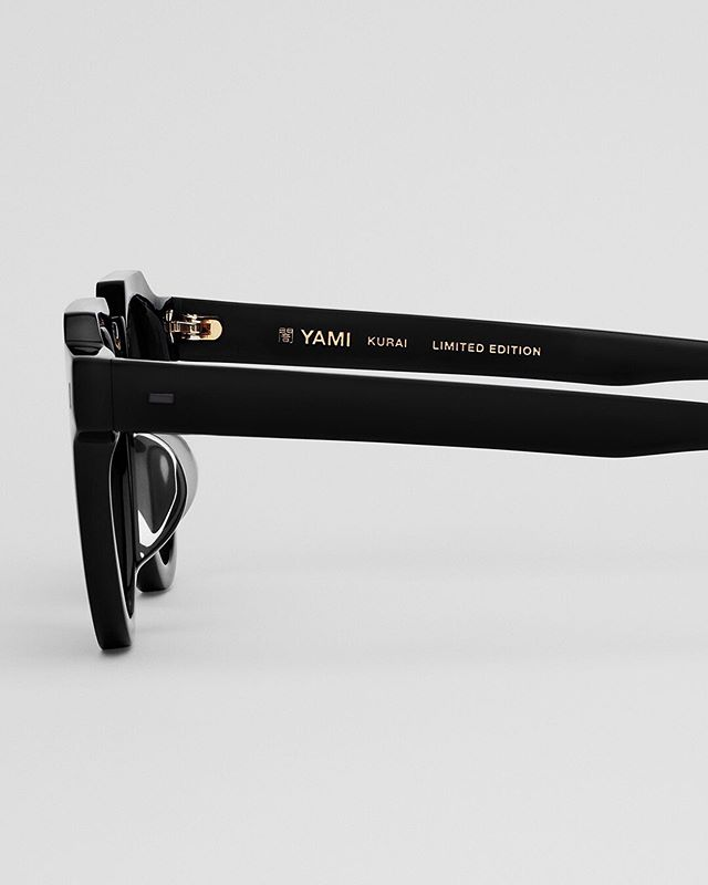 KURAI comes in a limited edition batch of 200 pieces. All black. All handmade. #yamieyewear