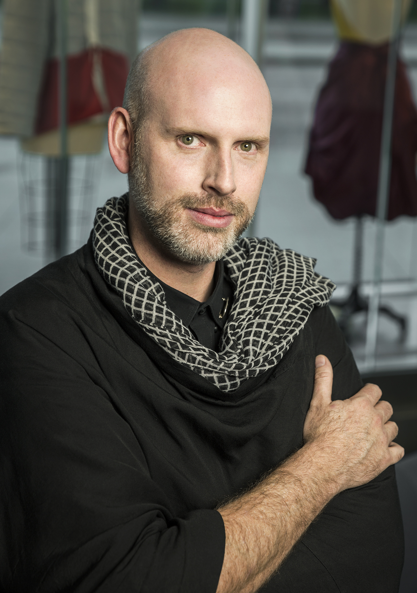 JUSTIN LeBLANC - FASHION STUDIESJustin LeBlanc is an Associate Professor of Fashion Studies at Columbia College Chicago where he teaches fashion design and installation. LeBlanc's interdisciplinary career spans fashion, textile art, architecture, and technology.LeBlanc aims to push education forward by combining the strengths of emerging technology like 3D printing with the traditions of the hand. His work focuses on knowledge passed down through artists and cultures from which our understandings are based. This knowledge and experience in multiple disciplines allows him to exploit and fuse different approaches, resulting in artistic expression that cannot be conveyed by one discipline alone.LeBlanc has been featured in a number of publications, fashion shows, and television in the United States and internationally. These include Mercedes New York Fashion Week, Marie Claire, Red Eye, The Chicago Tribune, the New York Times, USA Today, and The Face Magazine. He has competed on Project Runway and Project Runway All Stars. LeBlanc's Undergraduate degree is in Architecture from North Carolina State University, and his Master's Degree is in Fashion Design from School of the Art Institute of Chicago.