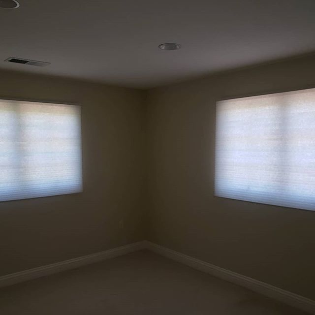 Just finished installing these nice cellular shades for a property manager in Cupertino
